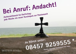 Flyer bei Anruf Andacht